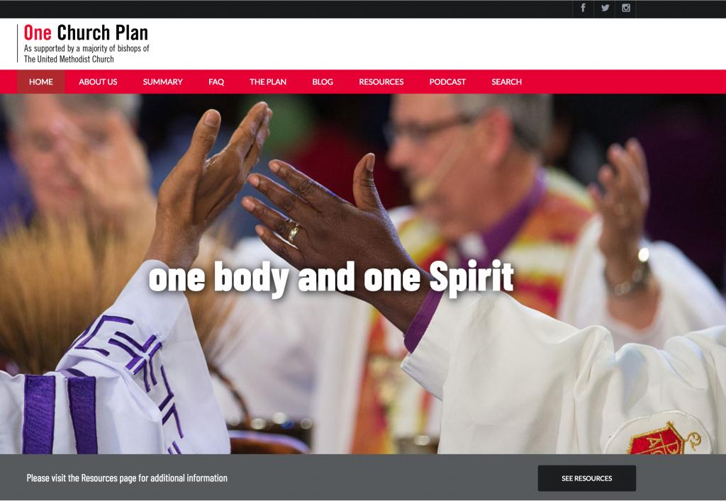 One Church Plan website