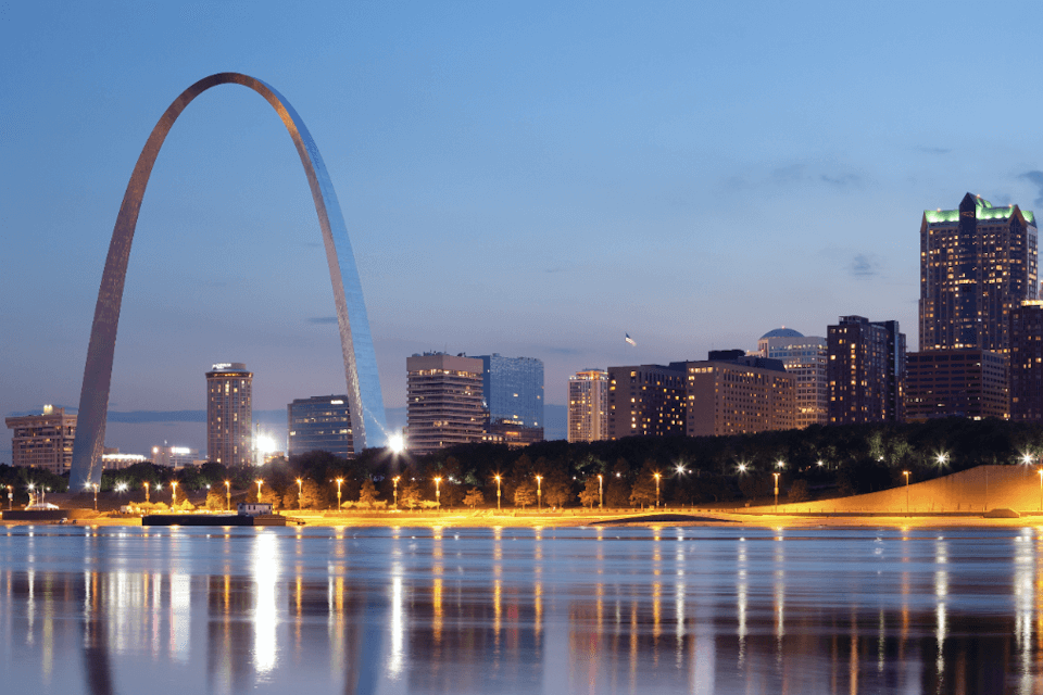 St. Louis skyline with Arch