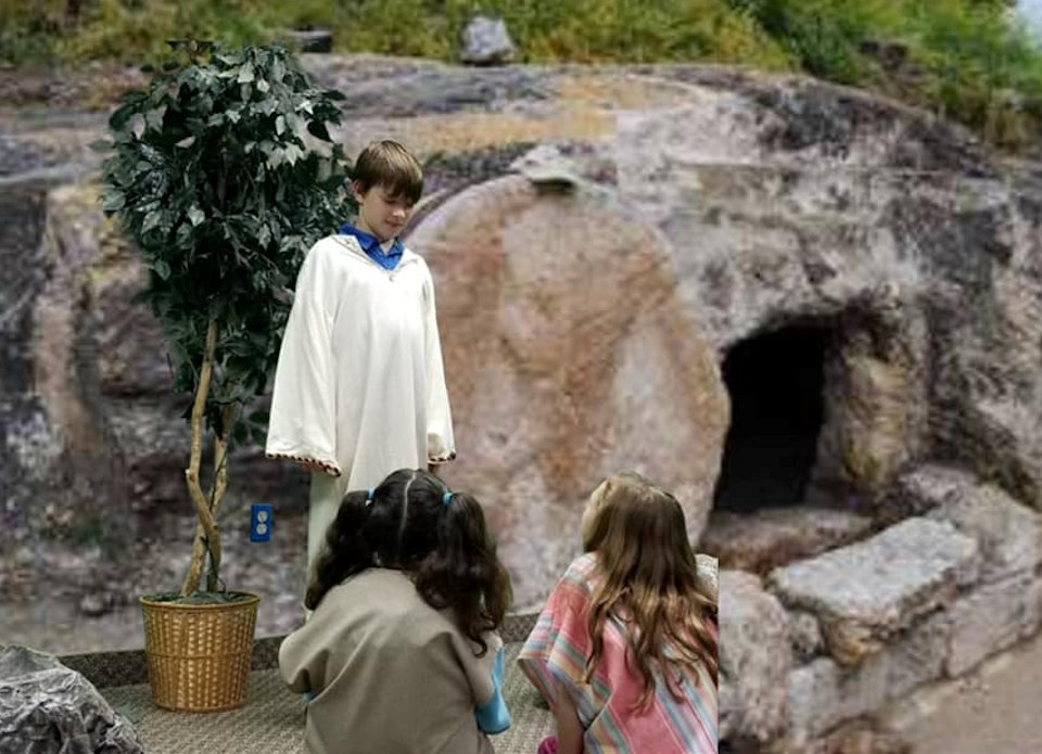 Children portraying Easter story