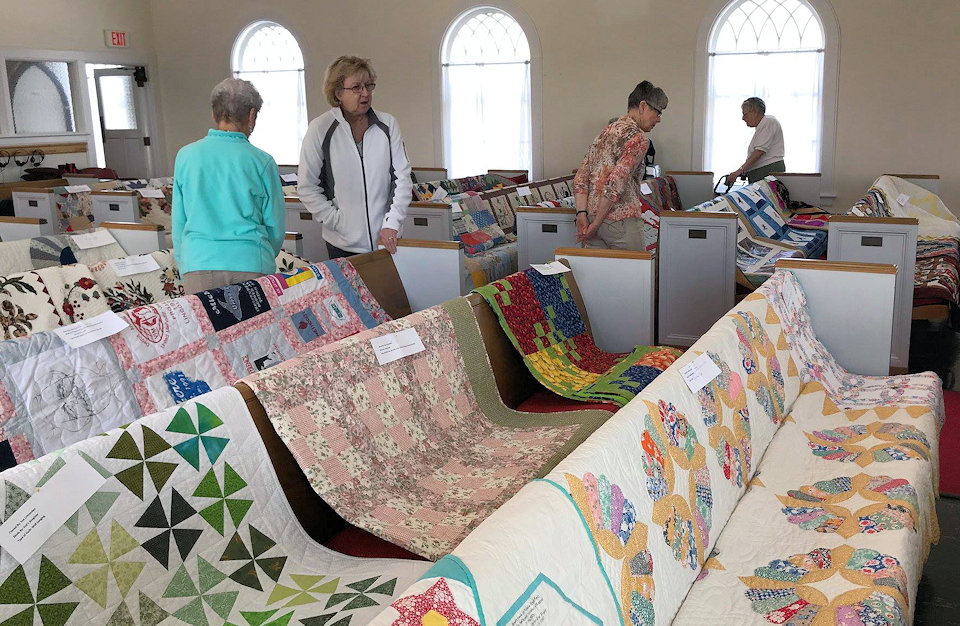Quilts in Chelsea Chapel