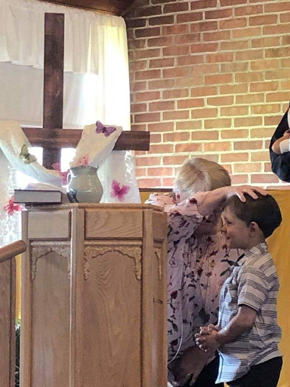 Baptism of boy