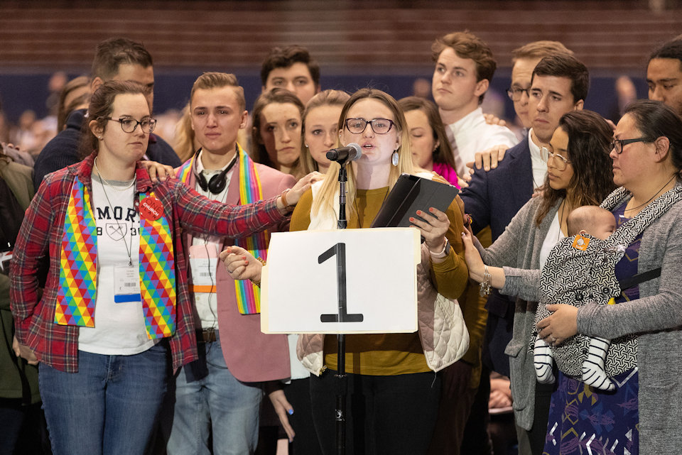 Young Adults present petitions representing 15,000 others around the world