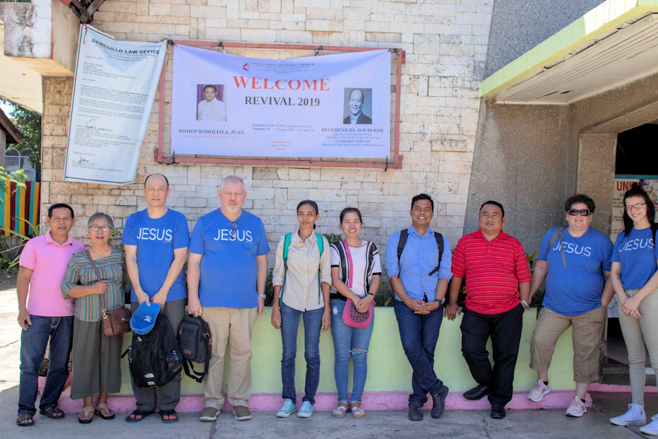 United Methodists from Michigan and the Philippines.