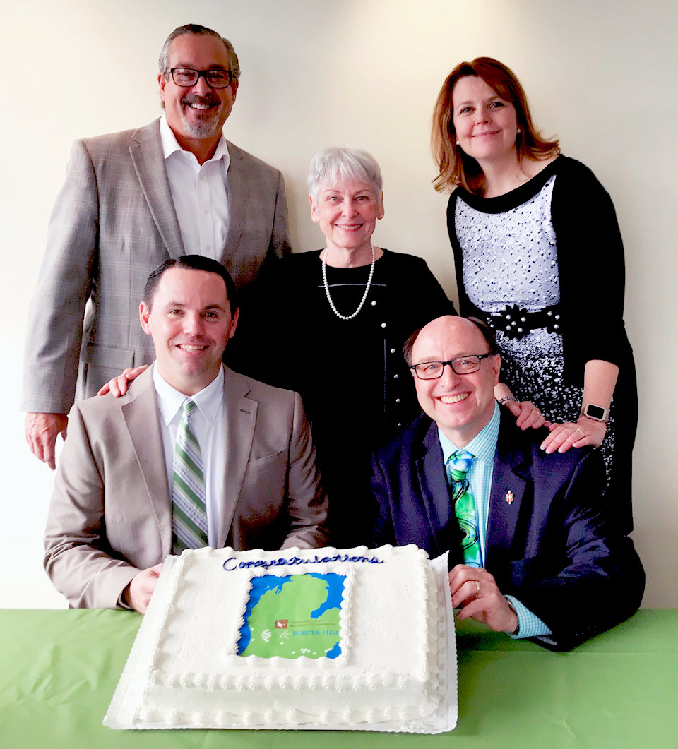 Bishop Bard celebrates the coming together of United Methodist Retirement Communities and Porter Hills