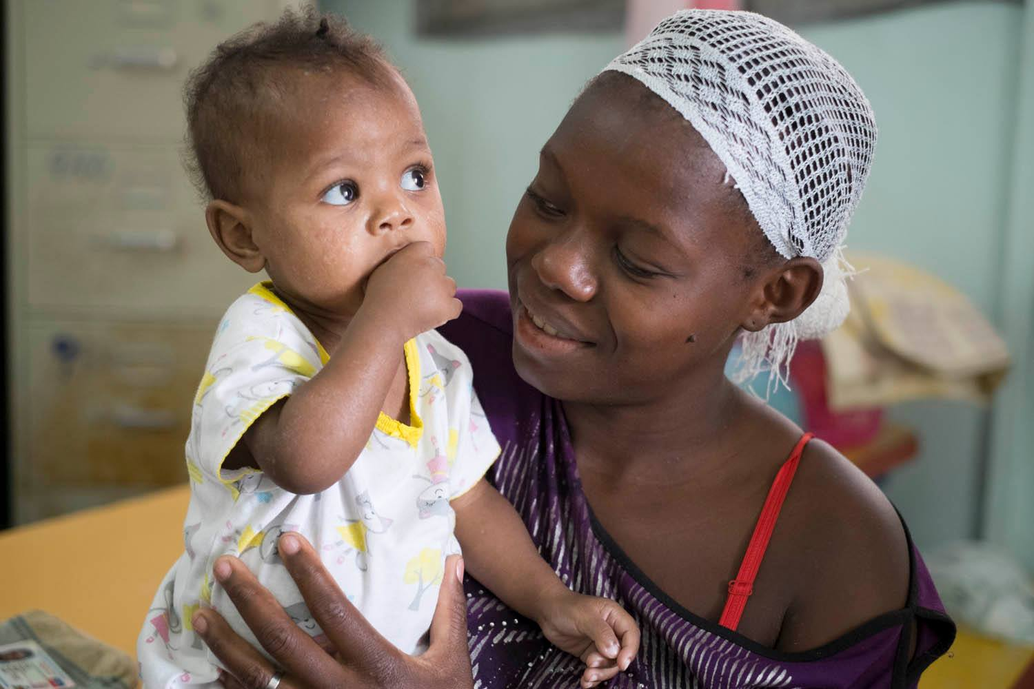 Haitian mother and infant