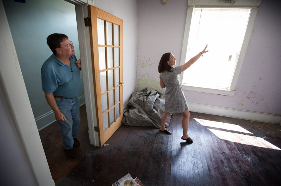 Woman making plans for Recovery House