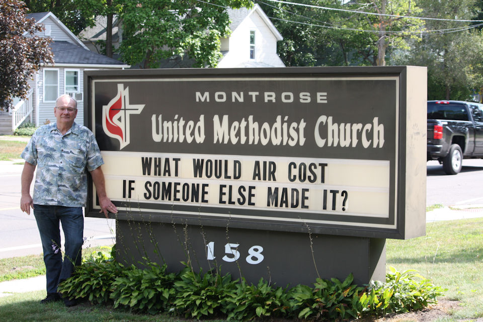 Montrose United Methodist Church sign