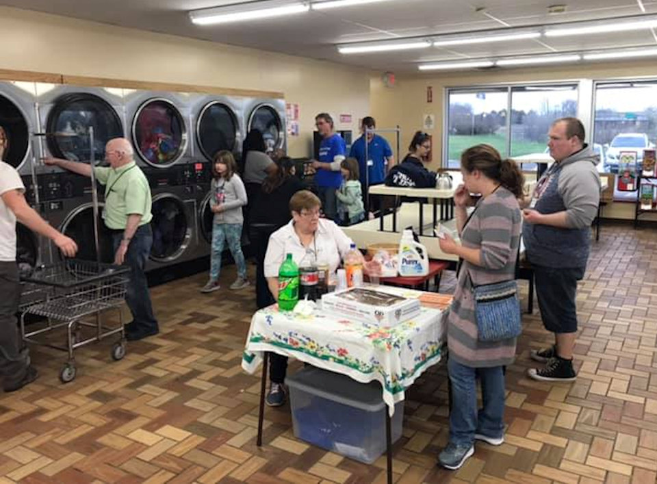 Maundy Thursday at the Laundromat