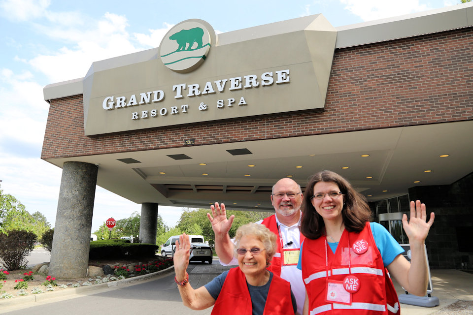 Greeters at Grand Traverse Resort for 2019 Michigan Conference