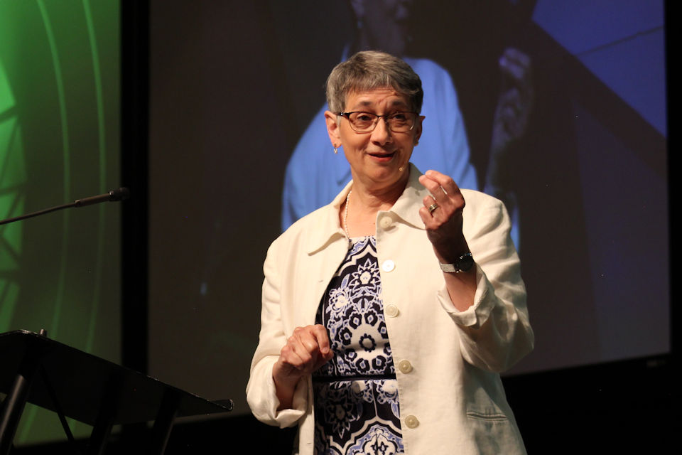 Jennie Browne preaching Saturday morning