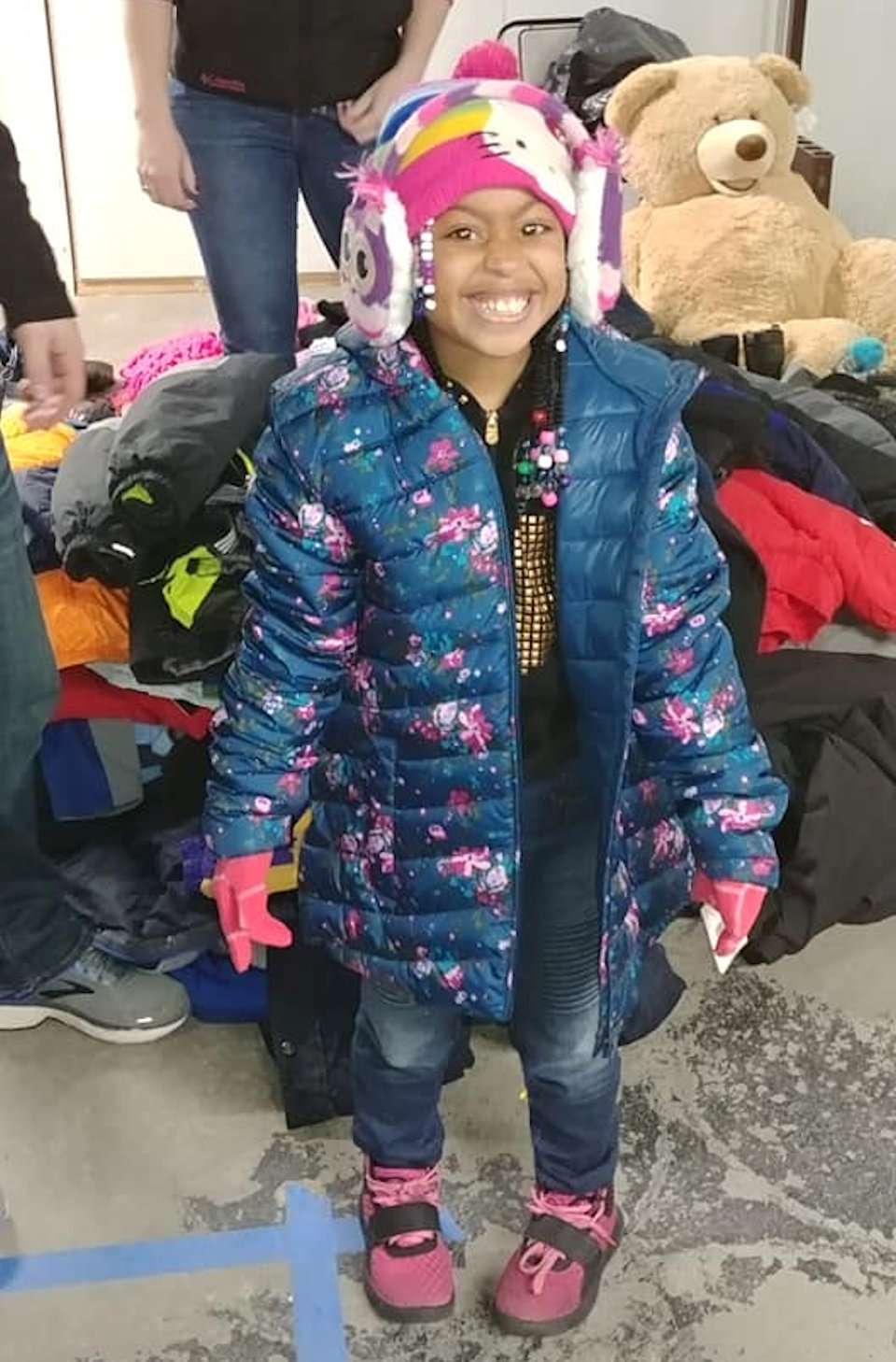 Girl with winter coat
