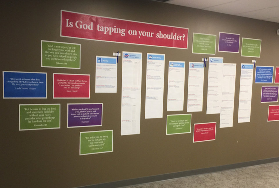 Sign up and signs on the wall at Dexter.