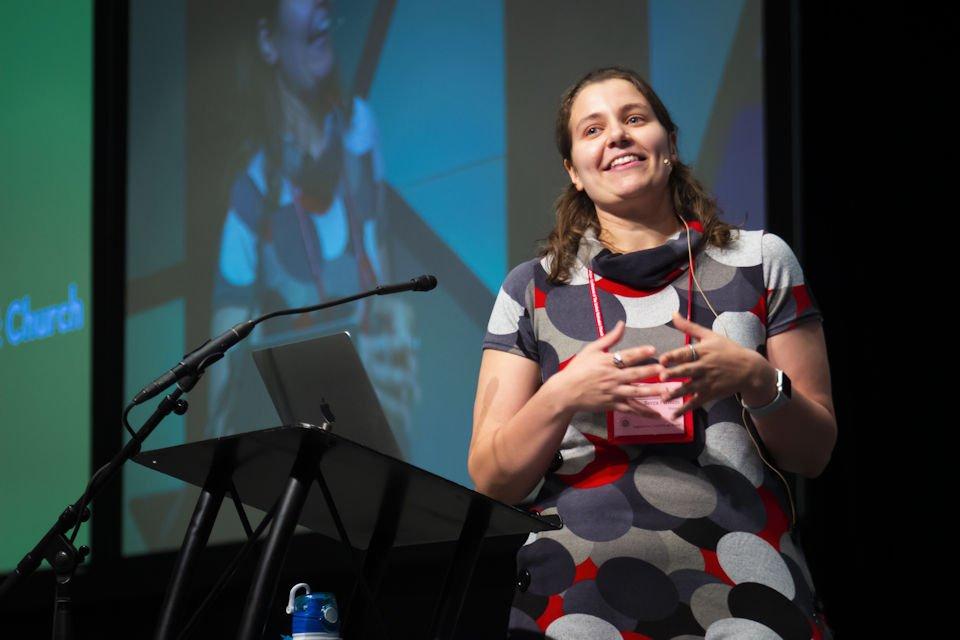 Becca Farum teaching about leadership