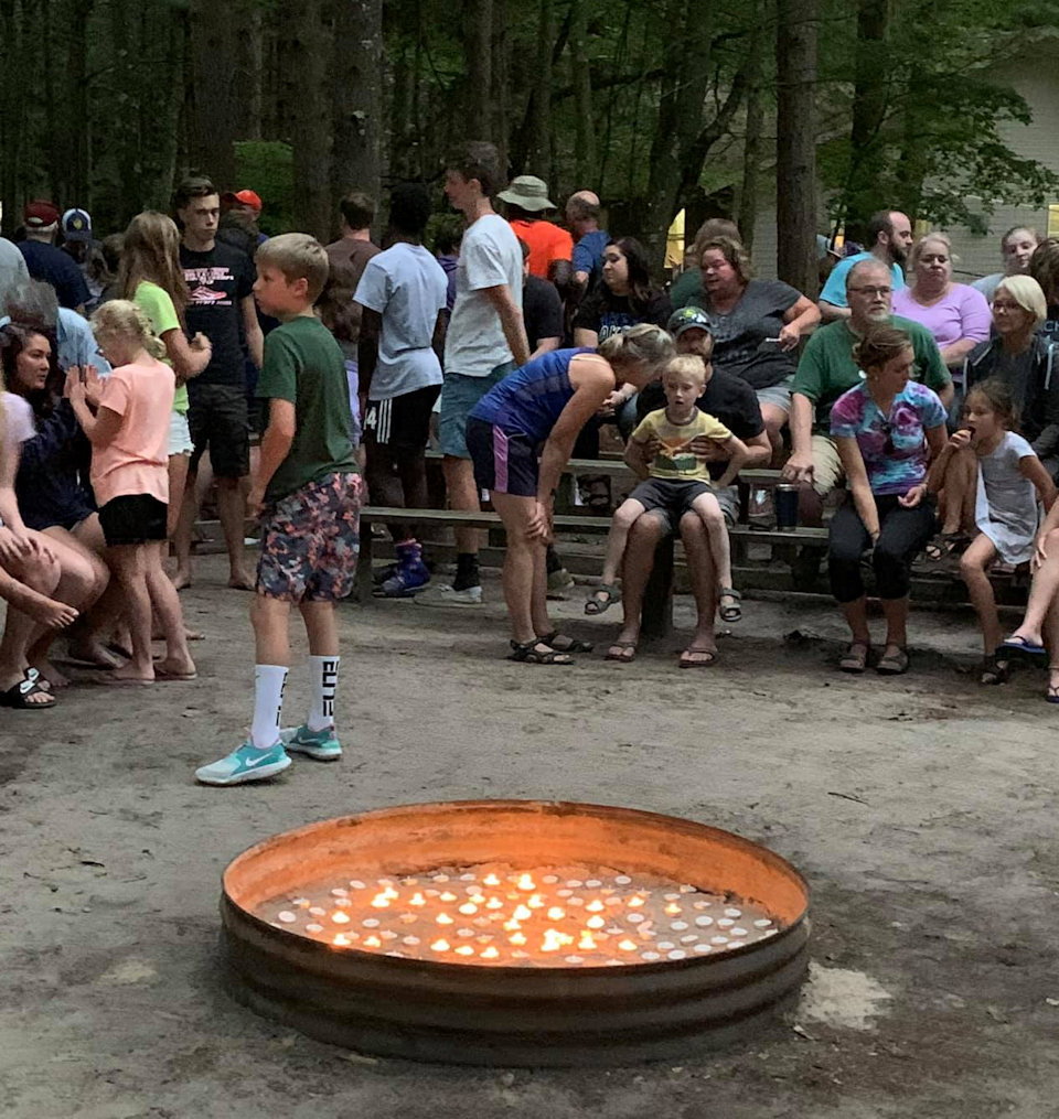 Firebowl at Family Camp