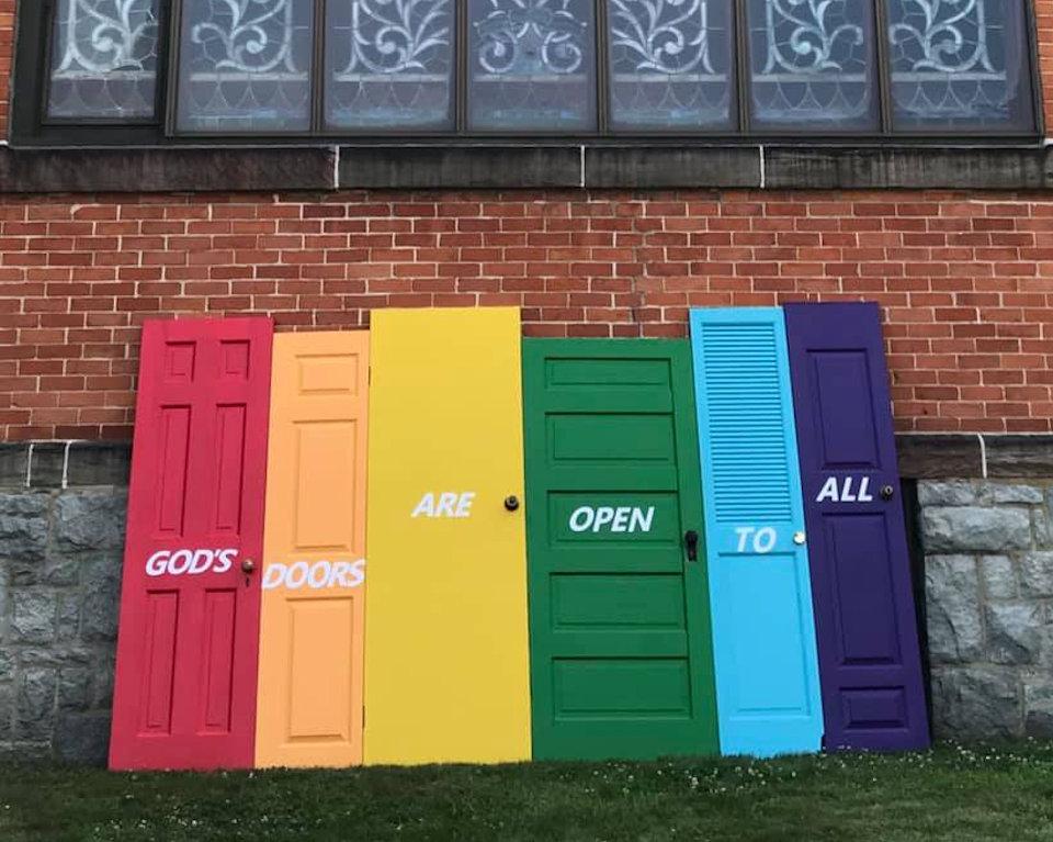 Doors at Jackson Trinity UMC