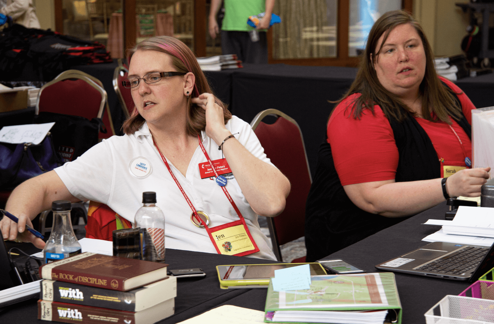 Jen Peters at the Registration Desk at AC 2019