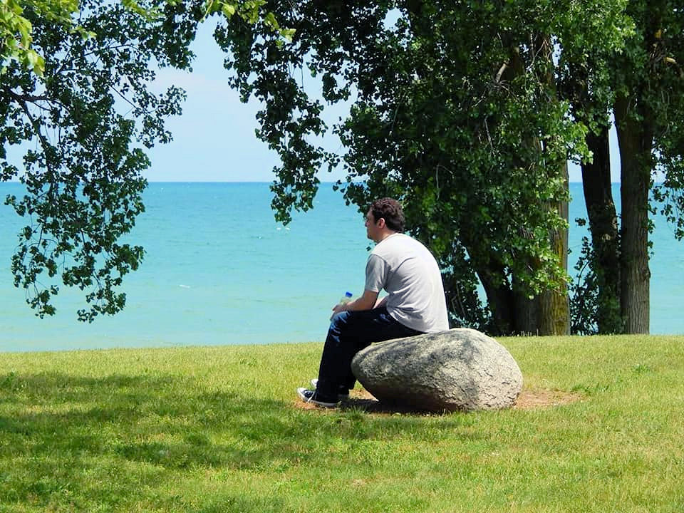 Man at Lake Huron