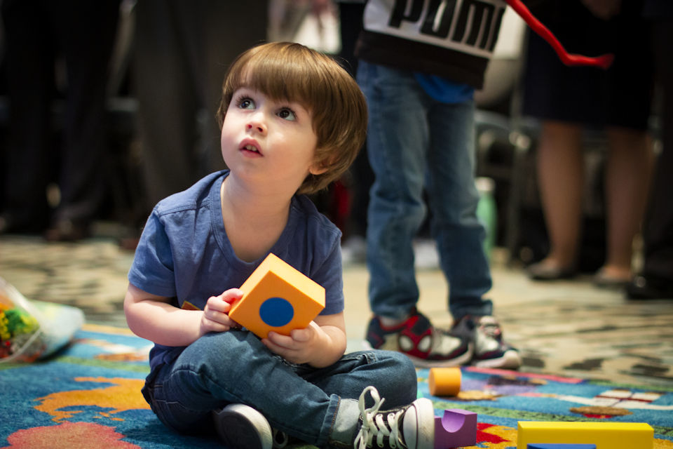 Small child at Annual Conference