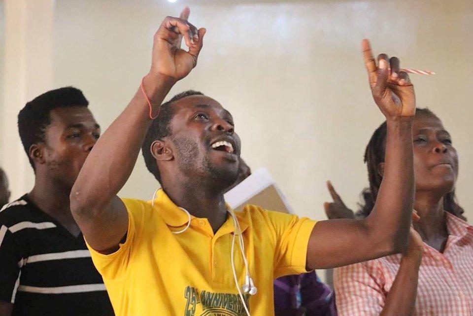 Liberian youth singing