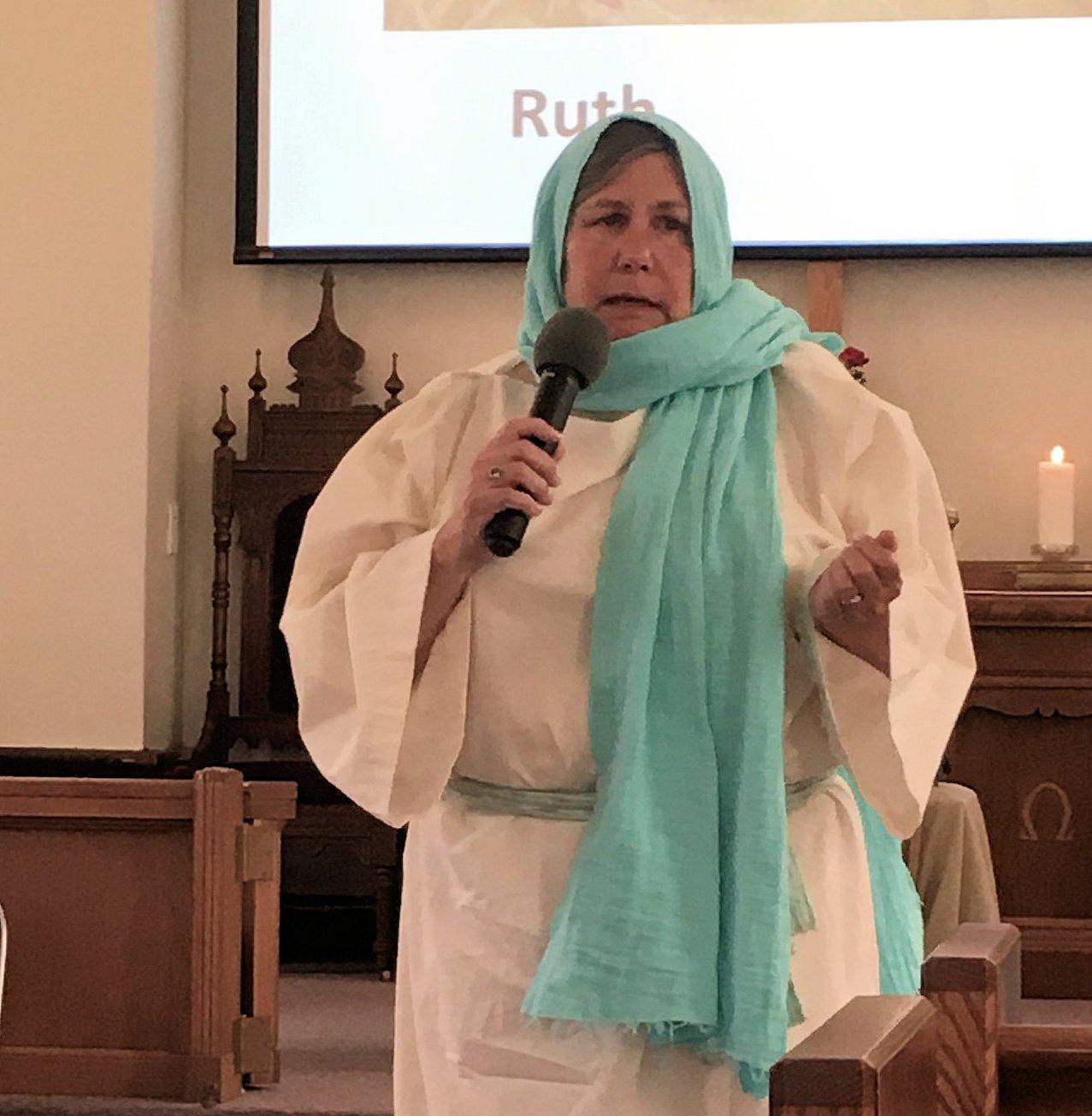 Woman portraying Ruth