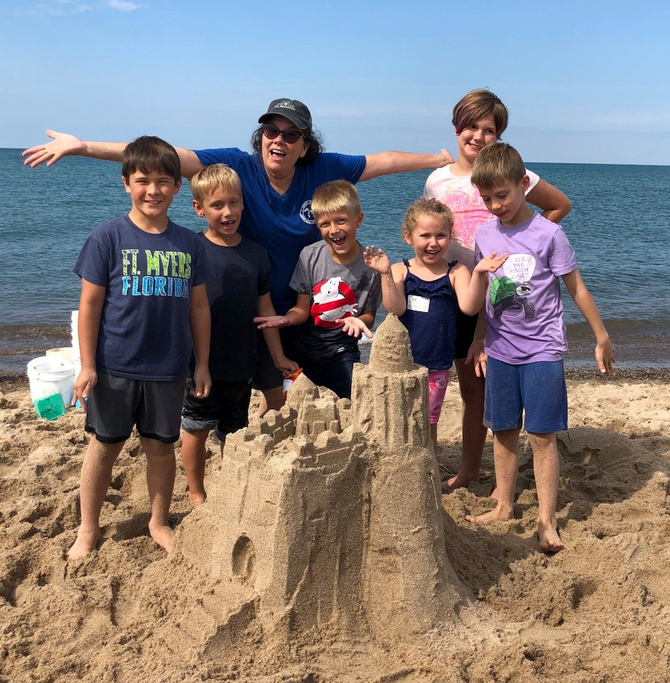 Sand fun at Lake Michigan