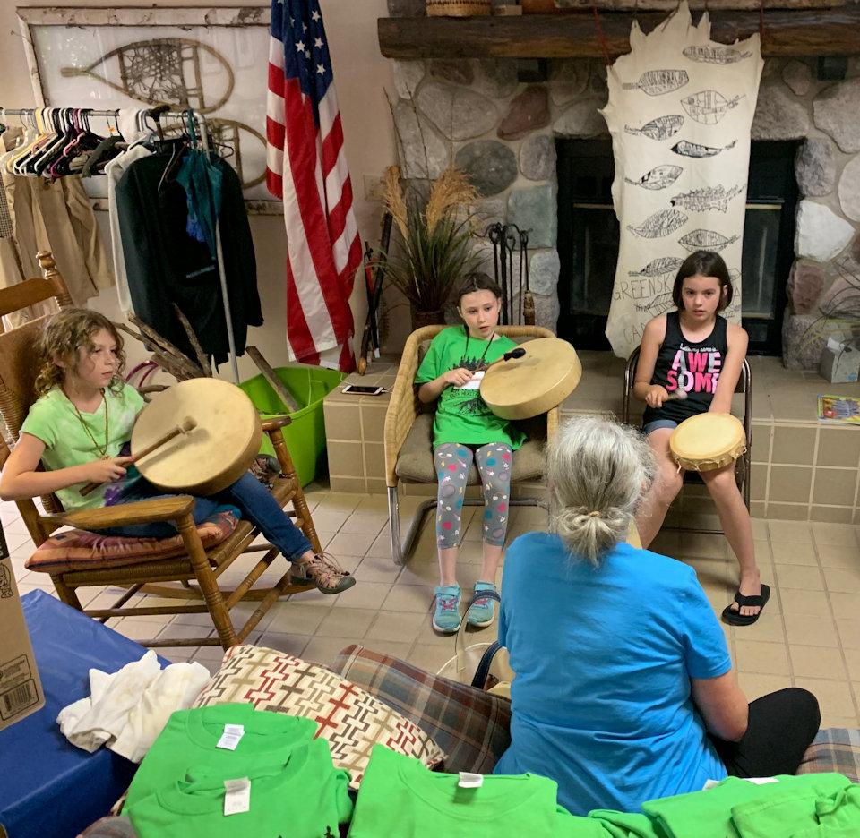 Drumming class at Greening of Greensky