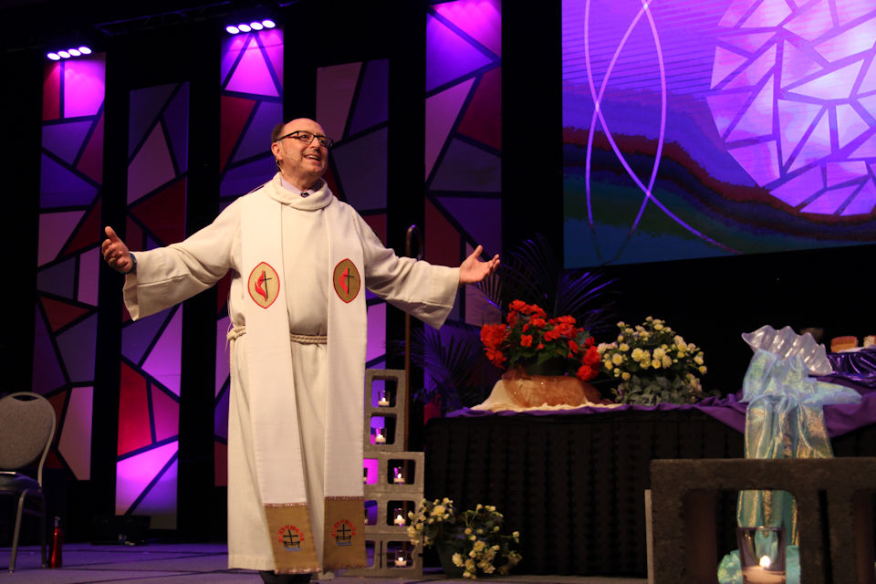 Bishop Bard preaching at Annual Conference