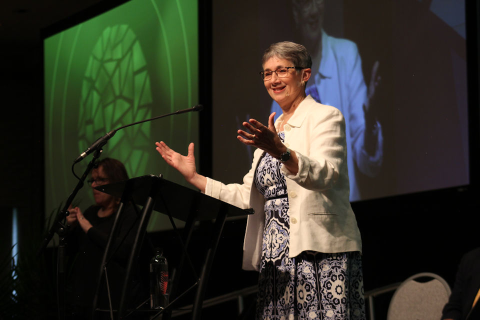 Jennie Browne preaching on Saturday at Annual Conference 2019, for such a time as this.