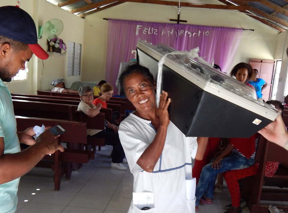 Woman with Solar Oven