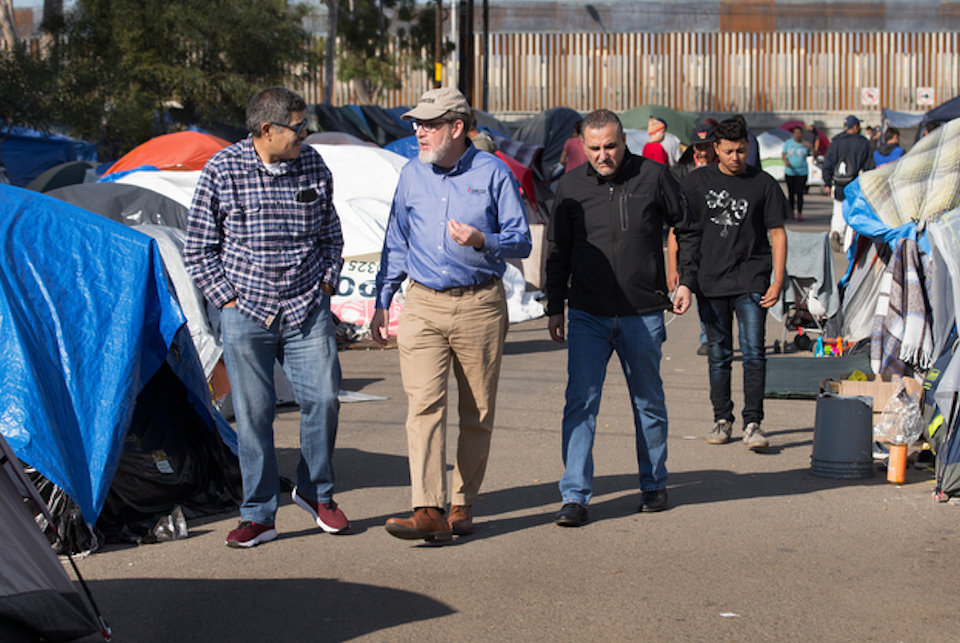 Jack Amick, UMCOR exec, at US-Mexico border concerning relief for children