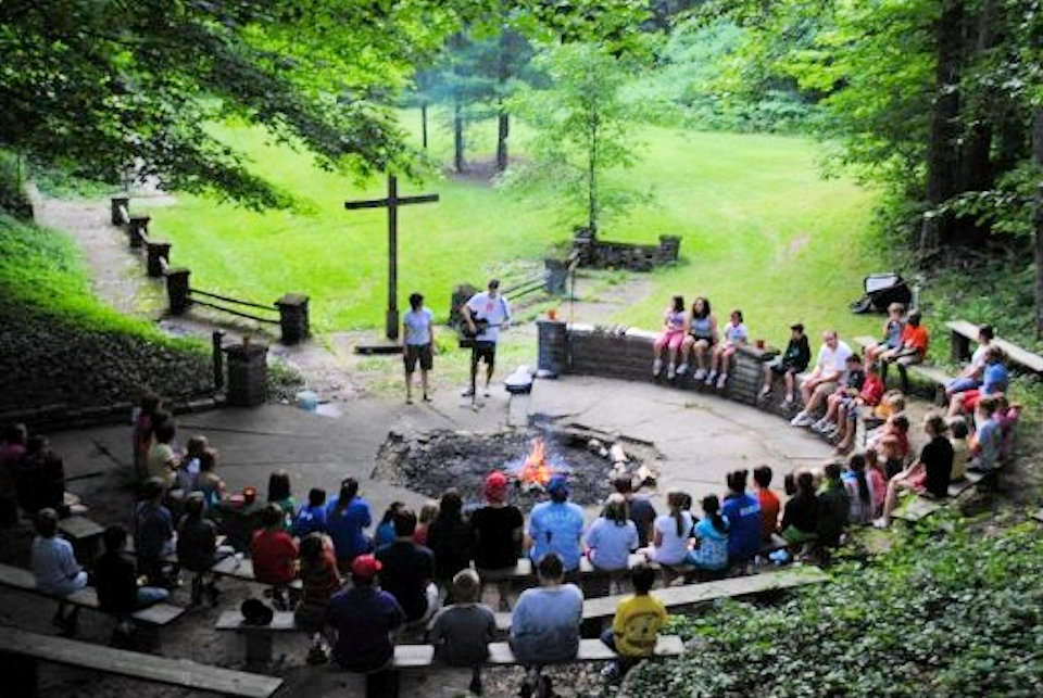 Campers at the Crystal Springs firebowl