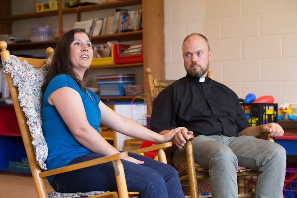 Rachael Porter and Rev. David Johnston served as foster parents.
