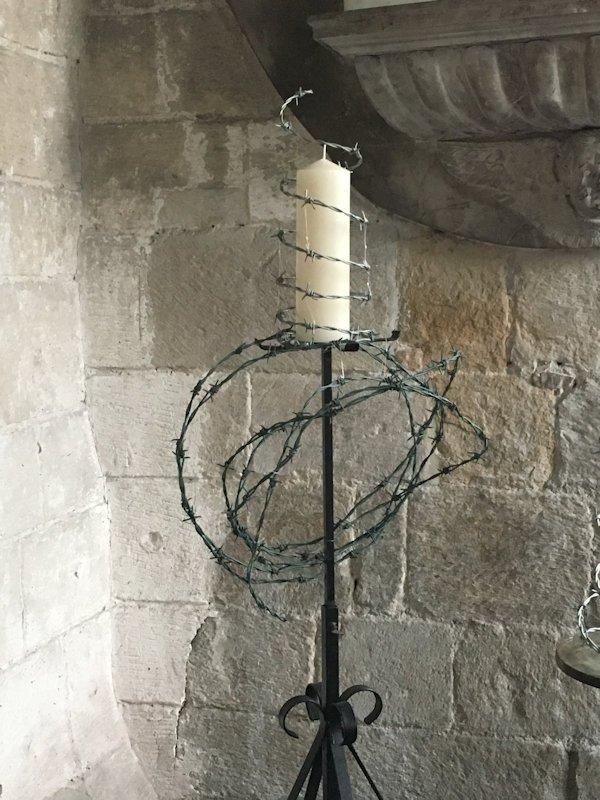 Christ Candle at Cartmel Prioriy.