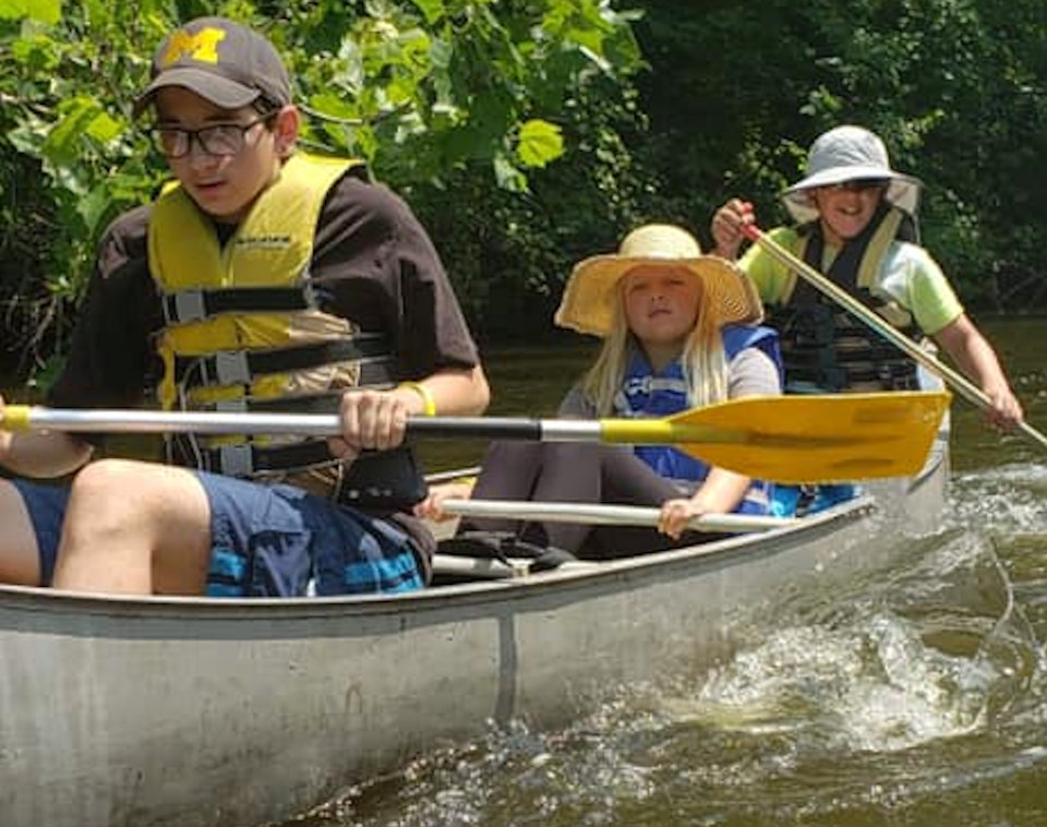 Canoeing at Wesley Woods Camp Site