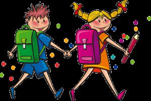 boy and girl backpacks