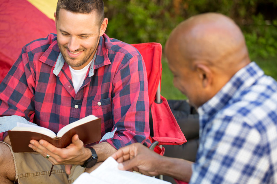 Men doing Bible Study
