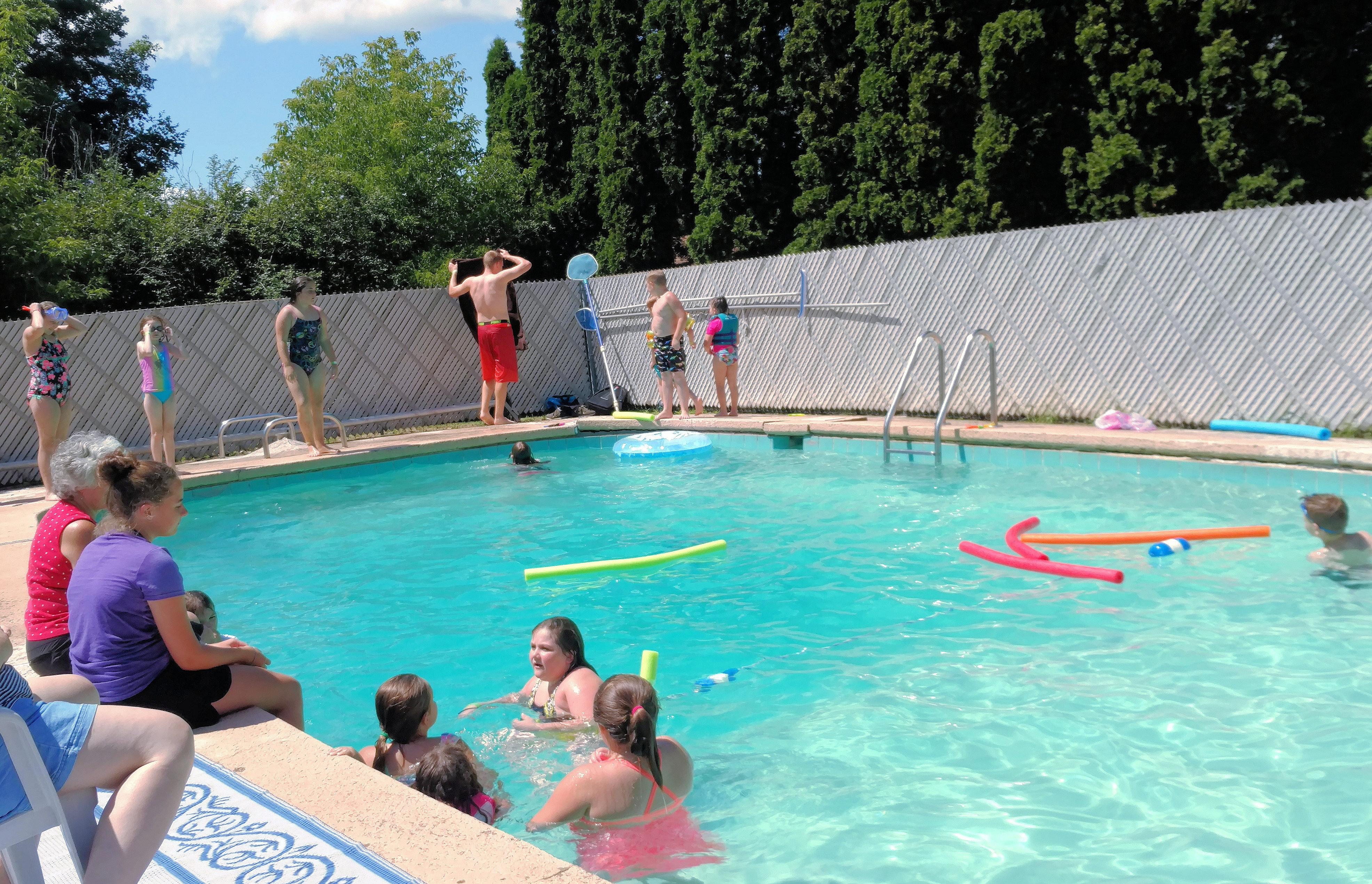 GAP participants enjoy a pool