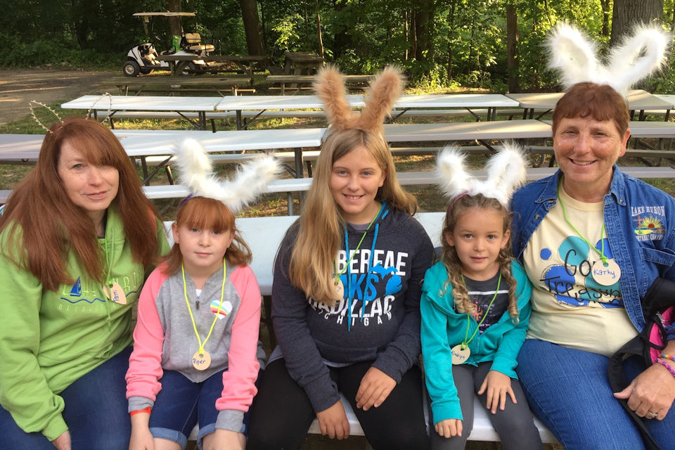 A bunny can be a camper, too. Fun at Grand Camp.