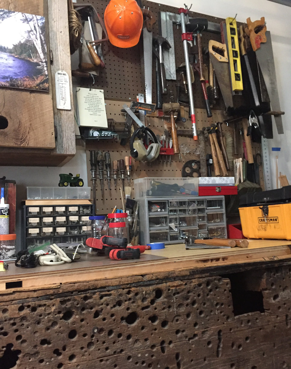 Workbench with tool after tool