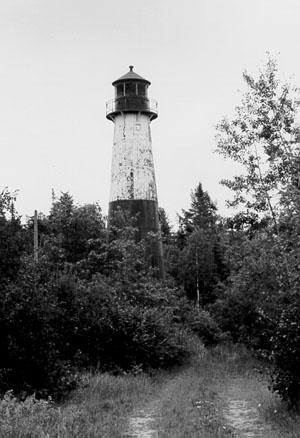 Christmas Michigan lighthouse