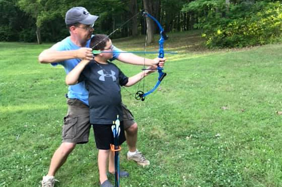 Father and Son archery at Judson Collins