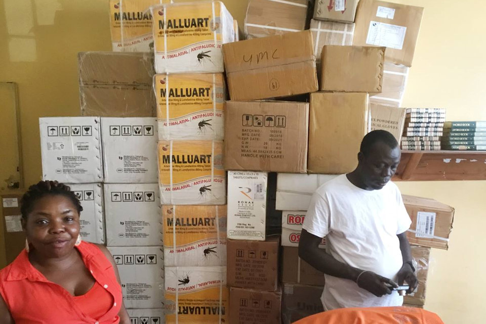 Malaria meds sent to Liberia
