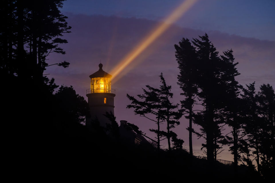 The sight of a lighthouse is welcome to sailors.