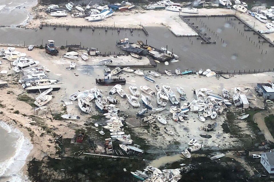 Damage inflicted by Hurricane Dorian in Bahamas