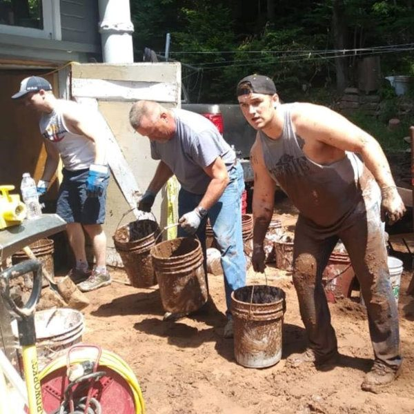 Cleaning out a basement after Houghton MI flood