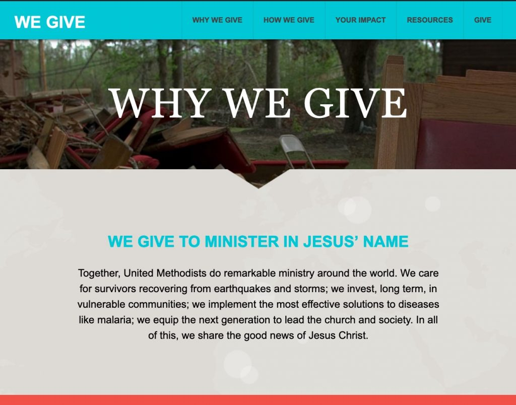 Why we give website