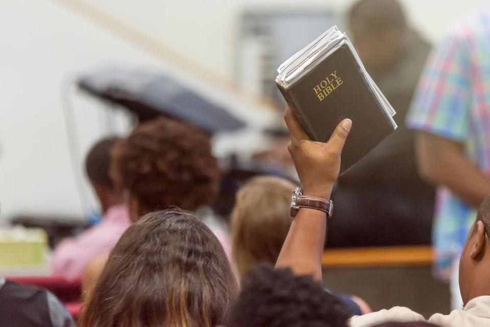 Congregation saying Amen!