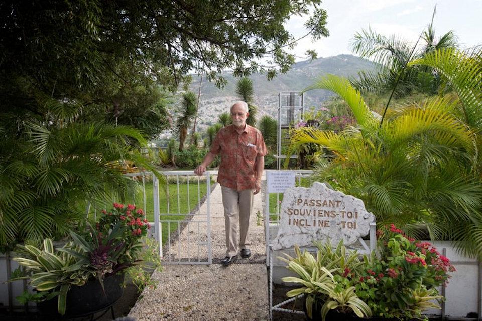 James Gully in garden