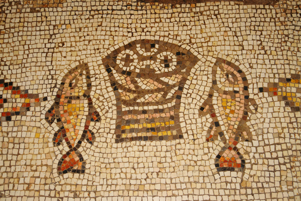 Seeing classic art like this mosaic in Israel