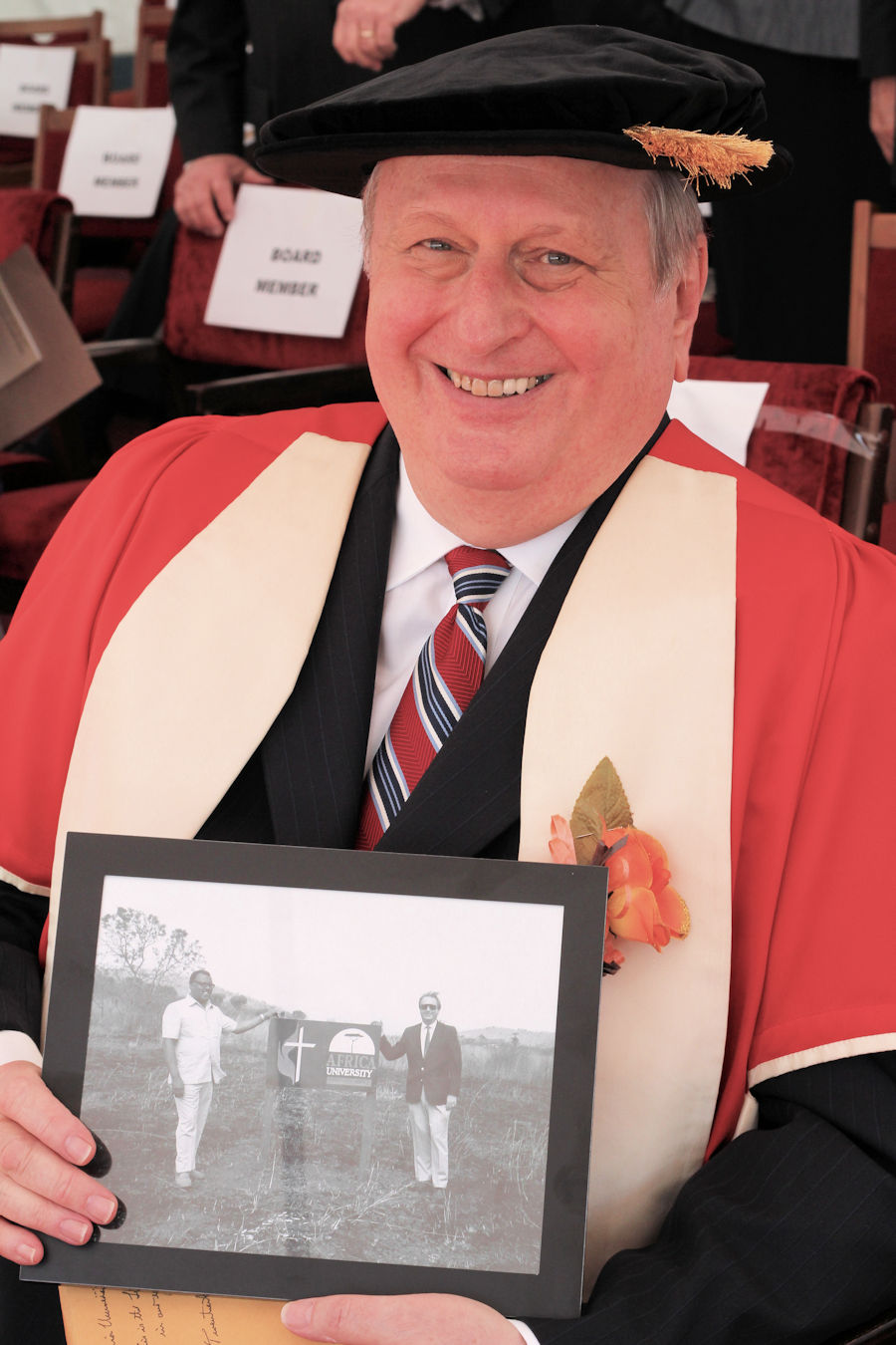 Roger Ireson receives honorary degree